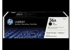 Картридж HP CB436AF чёрный сдвоенная упаковка