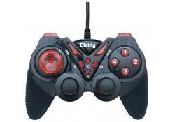 Геймпад GP-A13 Dialog Action - вибрация, 12 кнопок, USB, черно-красный